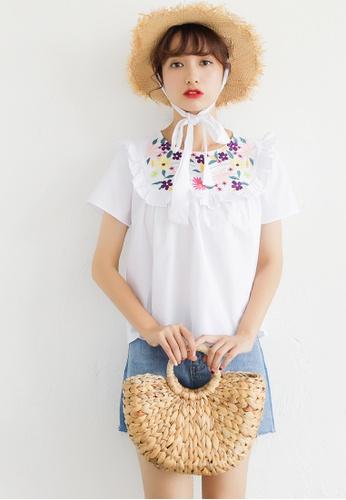 Shopsfashion white Addison Boho Blouse in White SH656AA03CSMSG_1