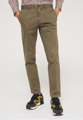 Sisley brown Cropped slim fit chinos F4168AA787481FGS_1