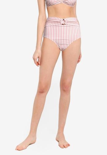 Cotton On Body orange Belted Boyshort Swim Bikini Bottom 00D60USE4A785DGS_1