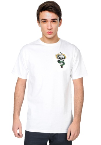 Powell Peralta white Powell Peralta Mike McGill Skull & Snake T-shirt - White E44C5AA403261BGS_1