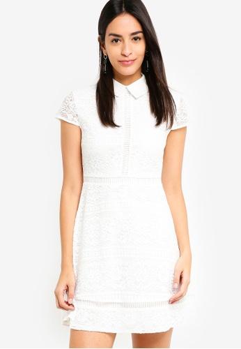 ZALORA white Collared Lace Dress 43856AAEEECF56GS_1