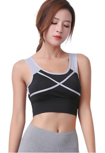 Trendyshop 黑色 貼身健身瑜伽背心胸圍 503E3USC4D3A91GS_1