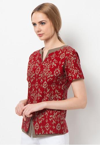 ASANA Tenun Batik Blouse