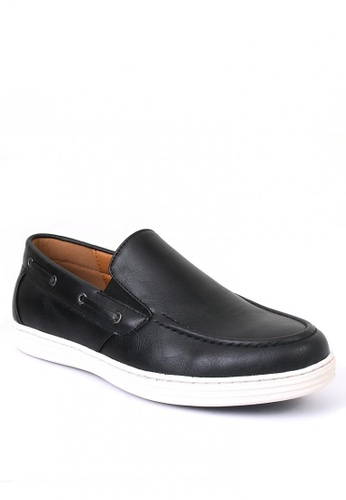 7soles black Robin Men's Loafers D4C6FSH1503565GS_1