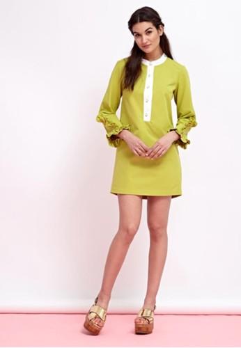 彈性荷葉袖esprit 衣服洋裝, 服飾, 短洋裝