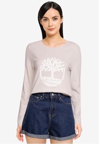 Timberland white Est. 1973 Long Sleeves Tree Logo Tee BAB73AA7A58D6CGS_1