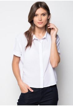Short Sleeved Button Down Top