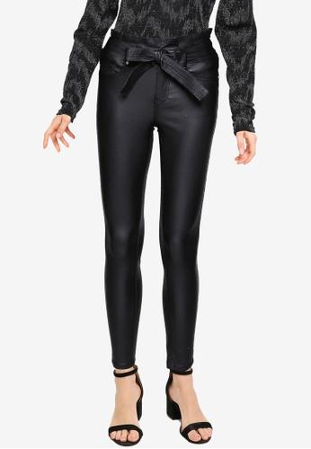 ONLY black Hush Mid Waist Skinny Pants 6B795AA8D804D6GS_1