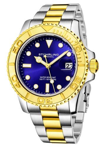 Stuhrling Original silver Stuhrling Original Men's Aquadiver Stainless Steel Bracelet Watch F2942ACF0BE01BGS_1