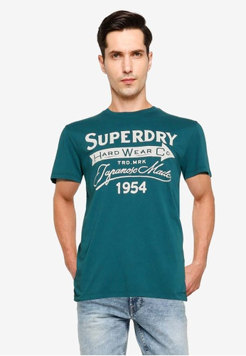 SUPERDRY green Dry Goods Tee 75737AA64C8FF7GS_1