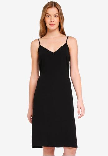 Miss Selfridge black Tailored Button Back Slip Dress 03A86AA6FF2881GS_1