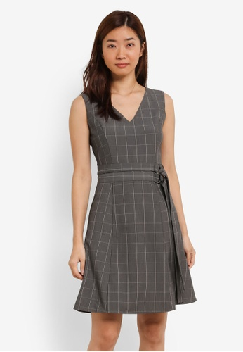 ZALORA grey Double D-Ring Dress 32EB9AA1CE8E18GS_1