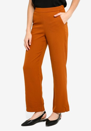 ICHI brown Jeanne Pants CB821AAA197A84GS_1