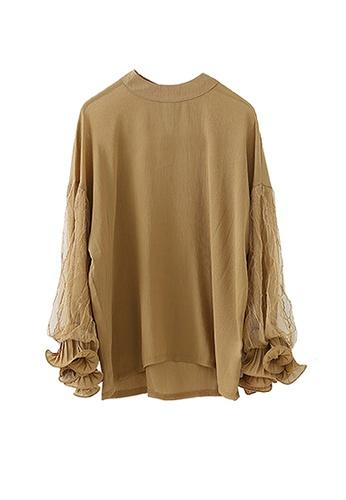 Twenty Eight Shoes brown VANSA Lace Long Sleeve Blouse  VCW-Bs2235 E43FEAA6C8588CGS_1