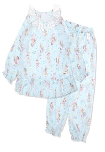Organic mom blue Organic Cotton Gigi Girl Lightweight Long Sleeves Pjs A1972KADAA8B4BGS_1