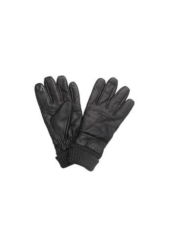 Universal Traveller black Universal Traveller Sheep Skin Leather Gloves - GVL 9001 3D81FACE9E6845GS_1