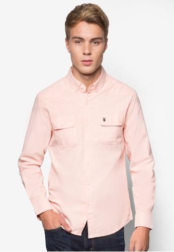 雙口袋長袖esprit hk store襯衫, 服飾, 服飾