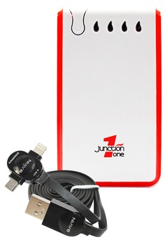 Junction 1 13000mAh Powerbank With FREE Bavin 2-IN-1 Intelligent Lightning Data Cable