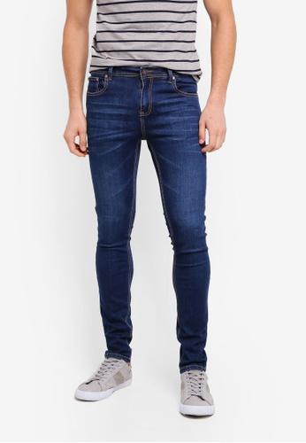 Penshoppe 藍色 修身窄管牛仔褲 CB4F2AA9546CBEGS_1