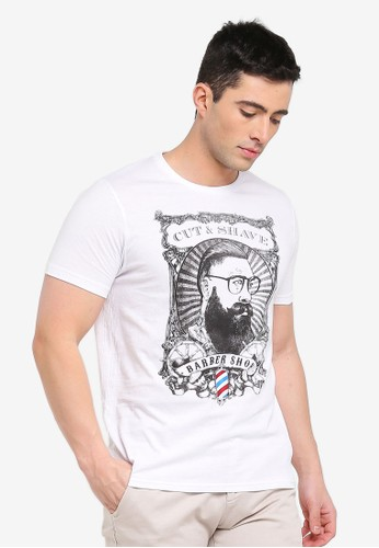 Brave Soul white Comb T-Shirt 4B696AA45E22C3GS_1