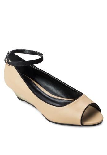 露趾繞踝楔型esprit 內衣跟鞋, 女鞋, 魚口楔形鞋