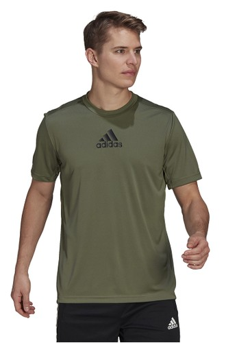 ADIDAS green adidas d2m 3 stripes t-shirt 11E91AA34F4EE7GS_1