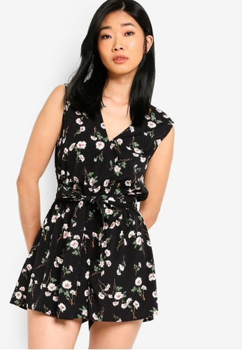 6566d9ddfc33 Buy Something Borrowed Wrap Playsuit With Self Tie Online on ZALORA  Singapore