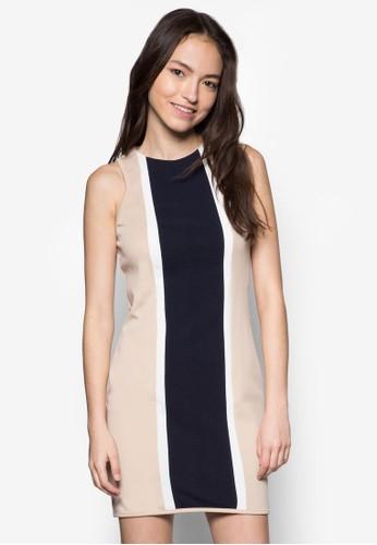 撞色zalora 鞋評價貼身洋裝, 服飾, 正式洋裝