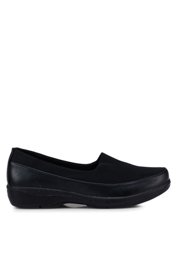 Bata 黑色 舒適懶人鞋 B672BSH1CD696AGS_1
