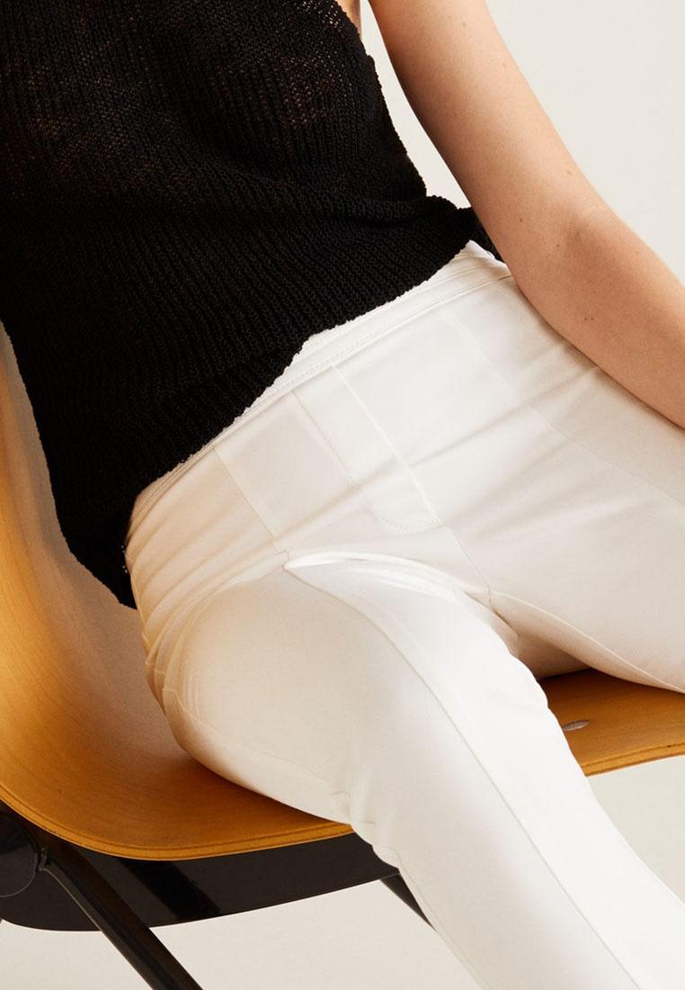 Trousers Crop Fit White Mango Slim Yxwt66d