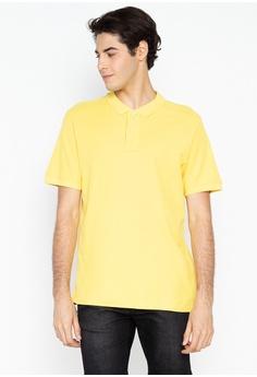 9d8a7ff1 DEBENHAMS yellow Maine New England - Contrast Placket Polo Shirt  3F811AA85F6B38GS_1
