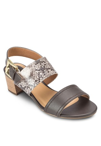 Ibio 蛇紋寬帶粗esprit暢貨中心跟涼鞋, 女鞋, 鞋