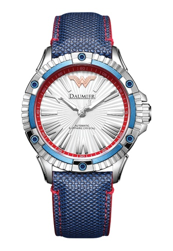 Daumier white and blue and multi DAUMIER X Wonder Woman Watch B32C8AC80E05A7GS_1