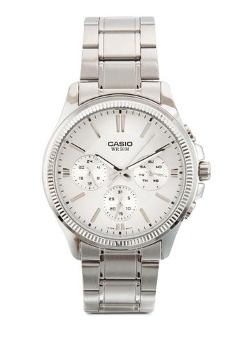Casio silver Casio Enticer White Dial Men's Watch CA843AC59JQYMY_1