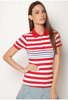 Engineered Stripes Slim Fit Polo Tees
