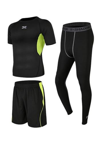 Sunnydaysweety green Short Sleeves Tops, Tights and Shorts Set A081026GR BBCF4AABA1B59DGS_1