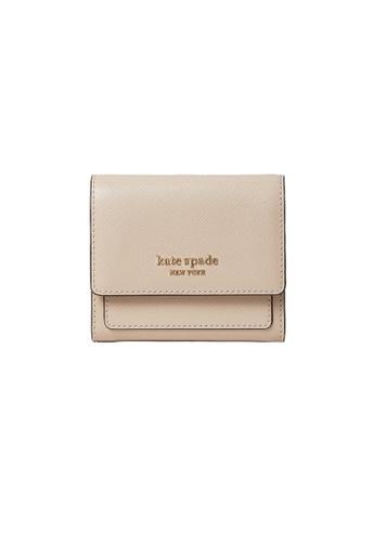 Kate Spade beige Kate Spade Booked Trifold Flap Wallet pwr00189 Warm Beige C9728AC3DB42E5GS_1
