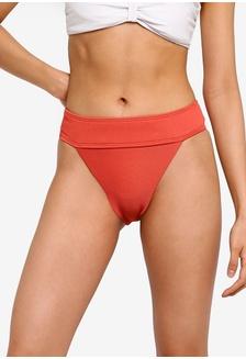 835f50d223703 TOPSHOP Tortoiseshell Ring Bikini Bottoms RM 89.00  High Waisted Ribbed  Tanga Bikini Bottoms