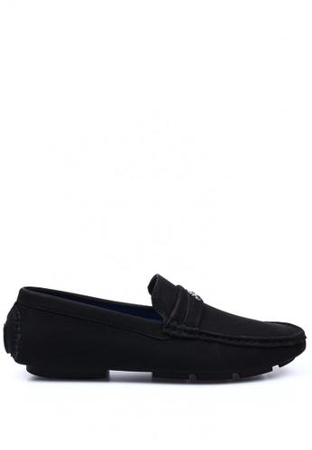 London Fashion black Rowan CH15-007-3 Slip-on Leather Shoes 294B4SHBBF2907GS_1
