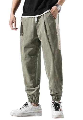 Twenty Eight Shoes green VANSA  Colorblock Casual SweatPants  VCM-P125 E6140AAD274C0EGS_1