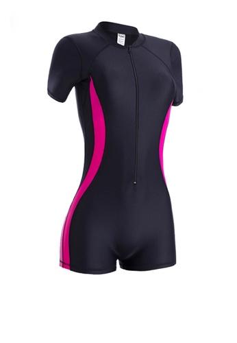 Twenty Eight Shoes black VANSA Plus Size Long Sleeves Diving Swimsuit  VCW-Sw3011 B33B5US643C47AGS_1