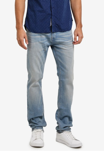 Superdry blue Officer Straight Jeans SU137AA0T233MY_1
