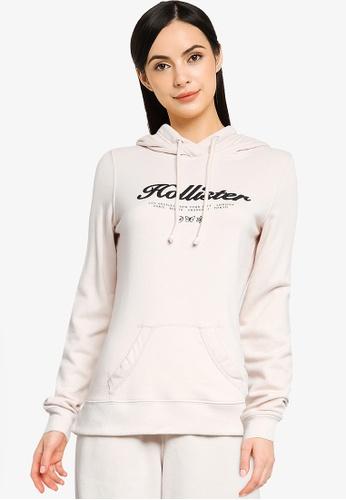 Hollister beige Terry Tech Core Pullover Hoodie F4DD1AABB185A7GS_1