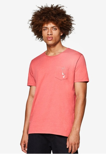 ESPRIT 粉紅色 短袖T恤 14E16AA4DD7453GS_1
