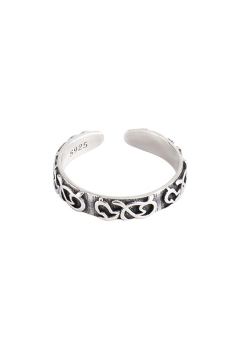 A-Excellence silver Premium S925 Sliver Geometric Ring 4E53DACDD3B68AGS_1