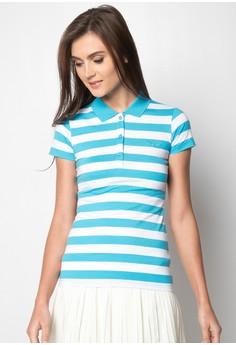 Ladies Basic Slim Fit Stripes Polo Tees