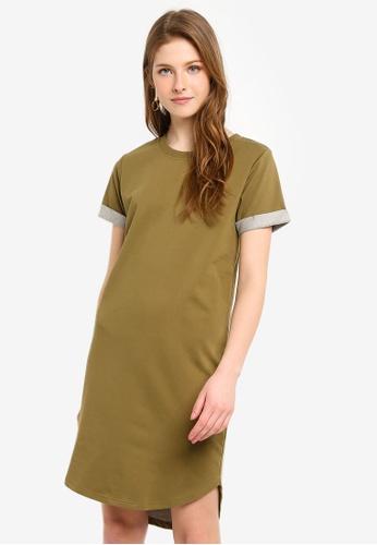JACQUELINE DE YONG green Ivy Life Short Sleeve Dress 763C7AAE189ADBGS_1