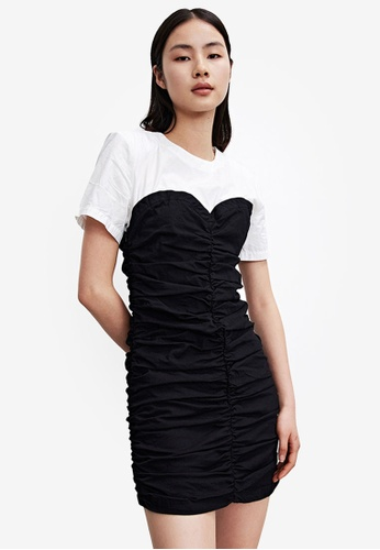 Urban Revivo grey Combination Ruched Dress 3E1B6AA702B7C2GS_1