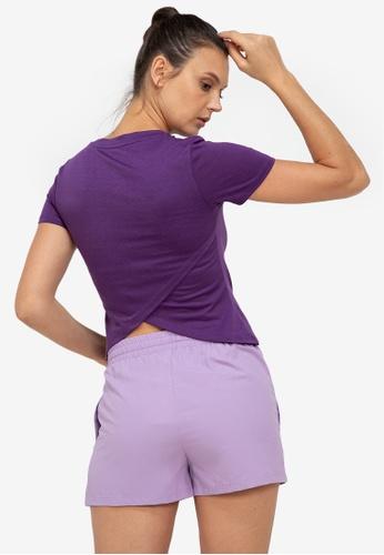 ZALORA ACTIVE purple Split Back Yoga Top B31DAAAED15D8FGS_1