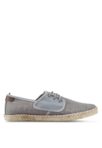 Burton Menswear London grey Scuba Grey Derbies B7AF4SH088C8E0GS_1